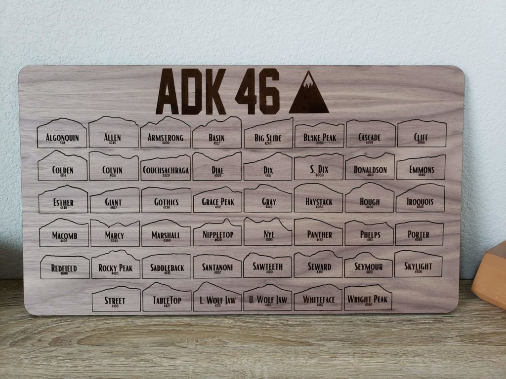 Wood Adirondack 46 Tracker Map Board