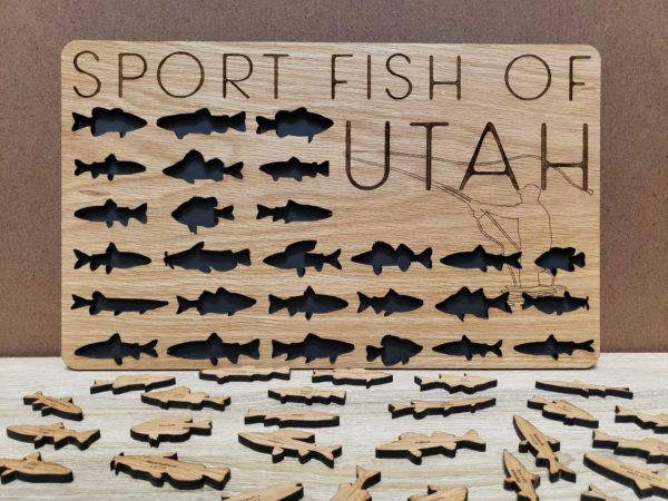 Utah Sport Fish Bucket List Board
