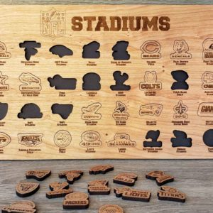 NFL Stadiums Bucket List Board