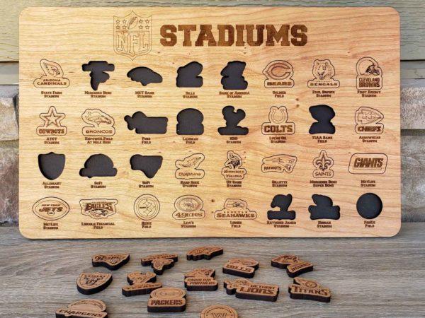 NFL Stadiums Bucket List Board
