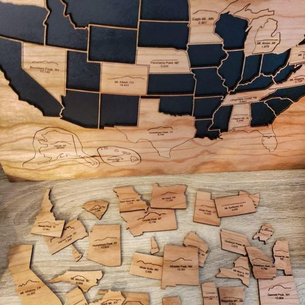 USA 50 States Highest Points