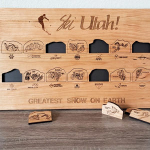 Ski Utah Resorts Bucket List Board