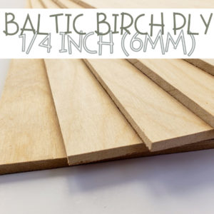Baltic Birch Plywood 1/4 inch quarter
