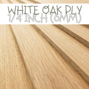 1/4 Inch White Oak Plywood Glowforge
