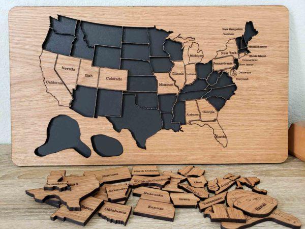 USA 50 States Roadtrip Tracker Board
