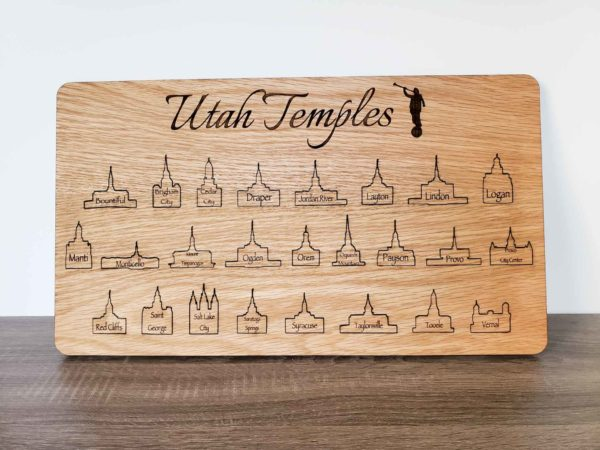 Utah LDS Temples Bucket List Board