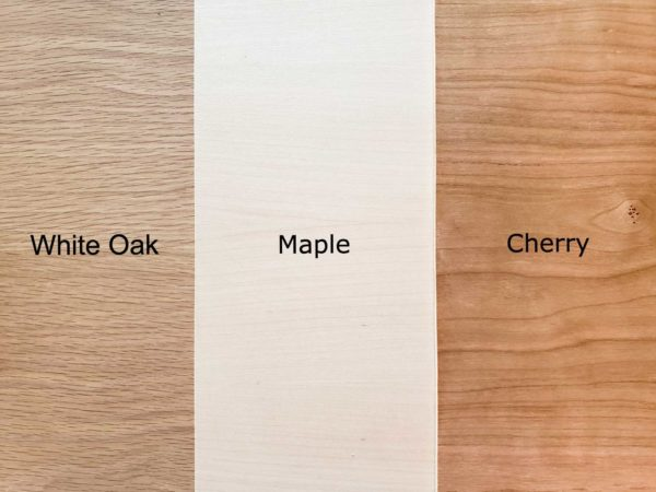 Bucket List Board Wood Options. White Oak, Maple, or Cherry