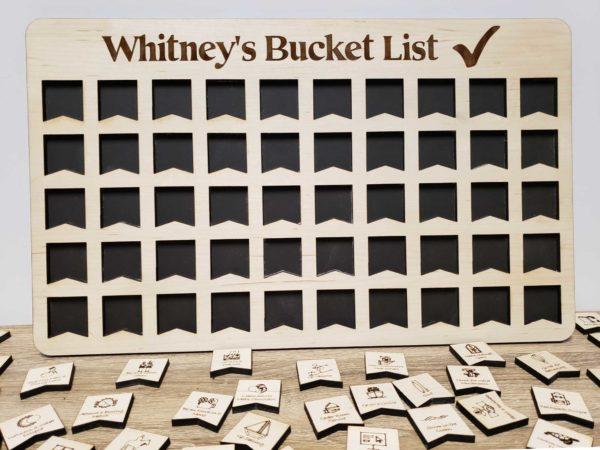 bucket list tracker board