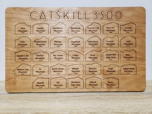 Catskill 35 club wooden map puzzle