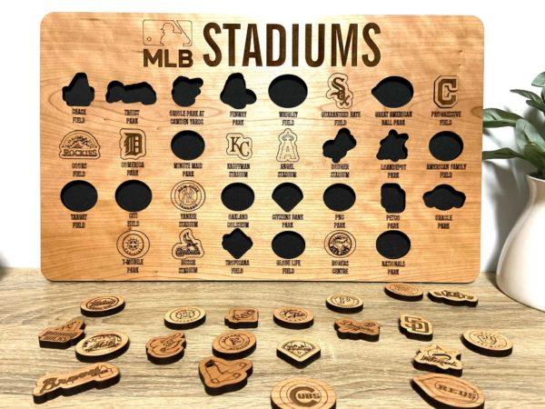 MLB Stadium Tracker Board