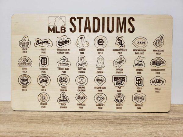 MLB Stadiums Maple Bucket List Visit all