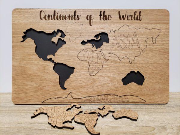 partial world map board mdd white oak