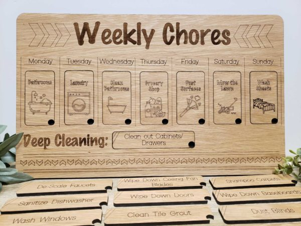 Weekly Chores Job board