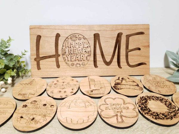 Interchangeable Home Sign New Year
