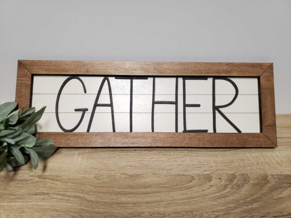 gather thanksgiving sign