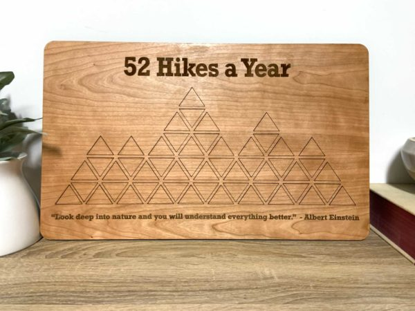 52 Hikes wooden map puzzle
