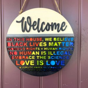 Pride Month Rainbow Sign BLM