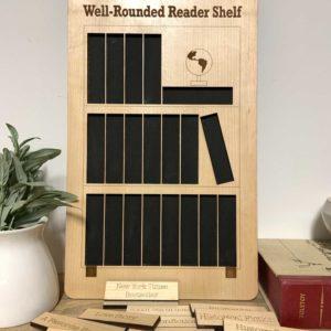 Wooden Book Reading Tracker Board