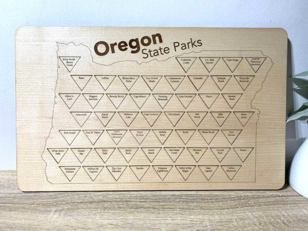 Puzzle Map Wood Oregon Parks
