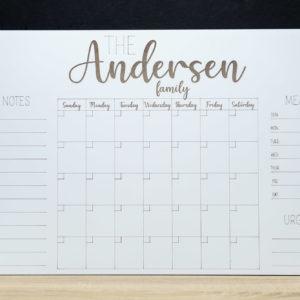 family calendar laser svg